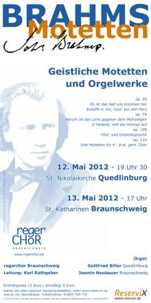 Plakat Brahms Motetten