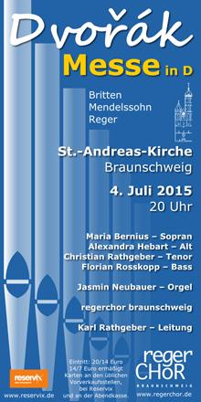 Plakat Dvorak-Messe 2015